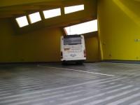 Nájezdová rampa - výjezd z autobusového nádraží