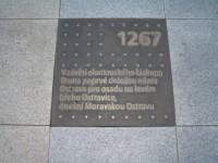 Masarykovo náměstí v Ostravě - mosazné desky