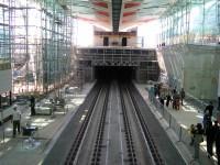 Stanice Střížkov - pohled z lávky