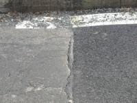 Napojení nového asfaltového koberce