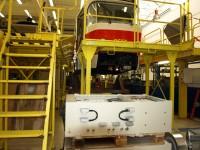 Rekonstrukce tramvaje - v popředí elektrovýzbroj Cegelec