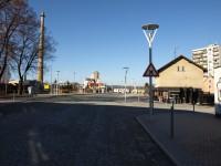 Dopravní terminal Vlašim - označení křižovatky