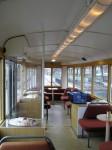 Historická tramvaj - kavárenská úprava interiéru