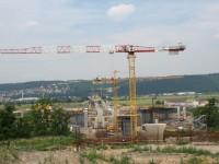 Stavba mostu přes Vltavu