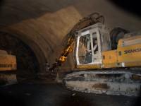Tunel Komořany - ražba severního tubusu