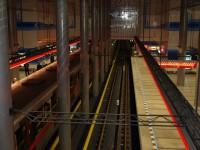 Metro Prosek - svítící informační linie