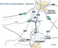 Mapa- křižovatka Opatovice