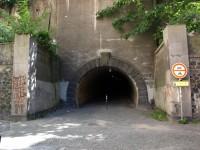 Žižkovský tunel - pohled z Thámovy ulice