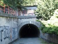 Žižkovský tunel - pohled z Tachovského náměstí