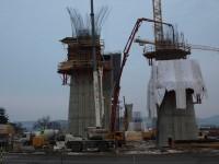 Stavba lahovické estakády