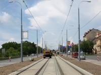Plzeň, Karlovarská ulice - oprava tramvajové trati