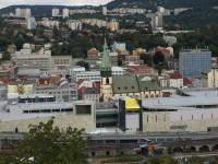 Ústí nad Labem - centrum - pohled z Větruše