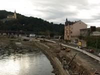 Ústí nad Labem - pohled z mostu E.Beneše na Větruši