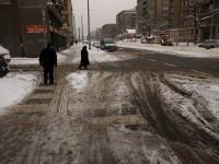 Praha - 11.1.2010 - Sokolovská ulice - zimní údržba 1.B pořa