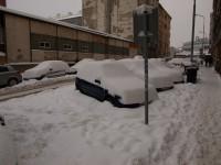 Praha 11.1.2010 - ulice U skládky v zimní údržbě 3. pořadí
