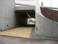 Podchod u okružní křižovatky v Turnově