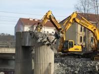 Praha - demolice mostu
