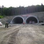 Požár v tunelu Valík!