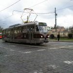 Rekonstruovaná tramvaj T3 se projela Prahou.