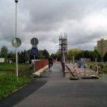 V Českých Budějovicích se opravuje  lávka pro pěší a cyklisty.