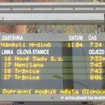 V Olomouci se rozšíří počet inteligentních zastávek