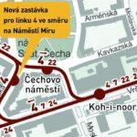 Čechovo náměstí: trvalé zřízení tramvajové zastávky