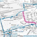 Dočasná změna trasy a zastávek pro linky číslo 133, 297 a509