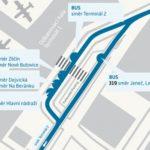 Terminál 1: dočasné přemístění autobusových zastávek – aktualizováno