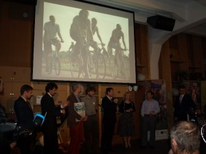 Vyhlášení hlavního města cyklistů