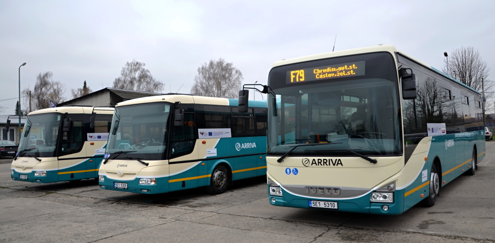 Nové autobusy v barvách dopravní společnosti Arriva
