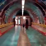 Reklama na přestupu stanice metra Florenc