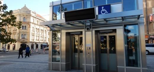 Výtah do stanice Anděl