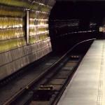 Příjezd metra na Můstku – linka A