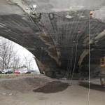 Na části Libeňského soumostí proběhly zatěžovací zkoušky