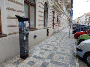 parkovací stojan před zahájením provozu ZPS na Praze 5