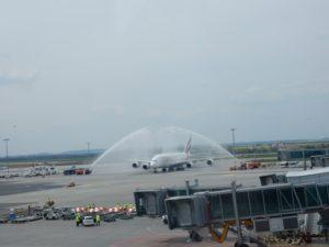 vítání Airbusu A380