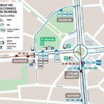 Změny zastávek autobusů v oblasti Dejvické