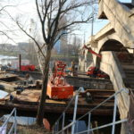 Na Libeňského mostu provede TSK zkoušky pevnosti betonu a podloží