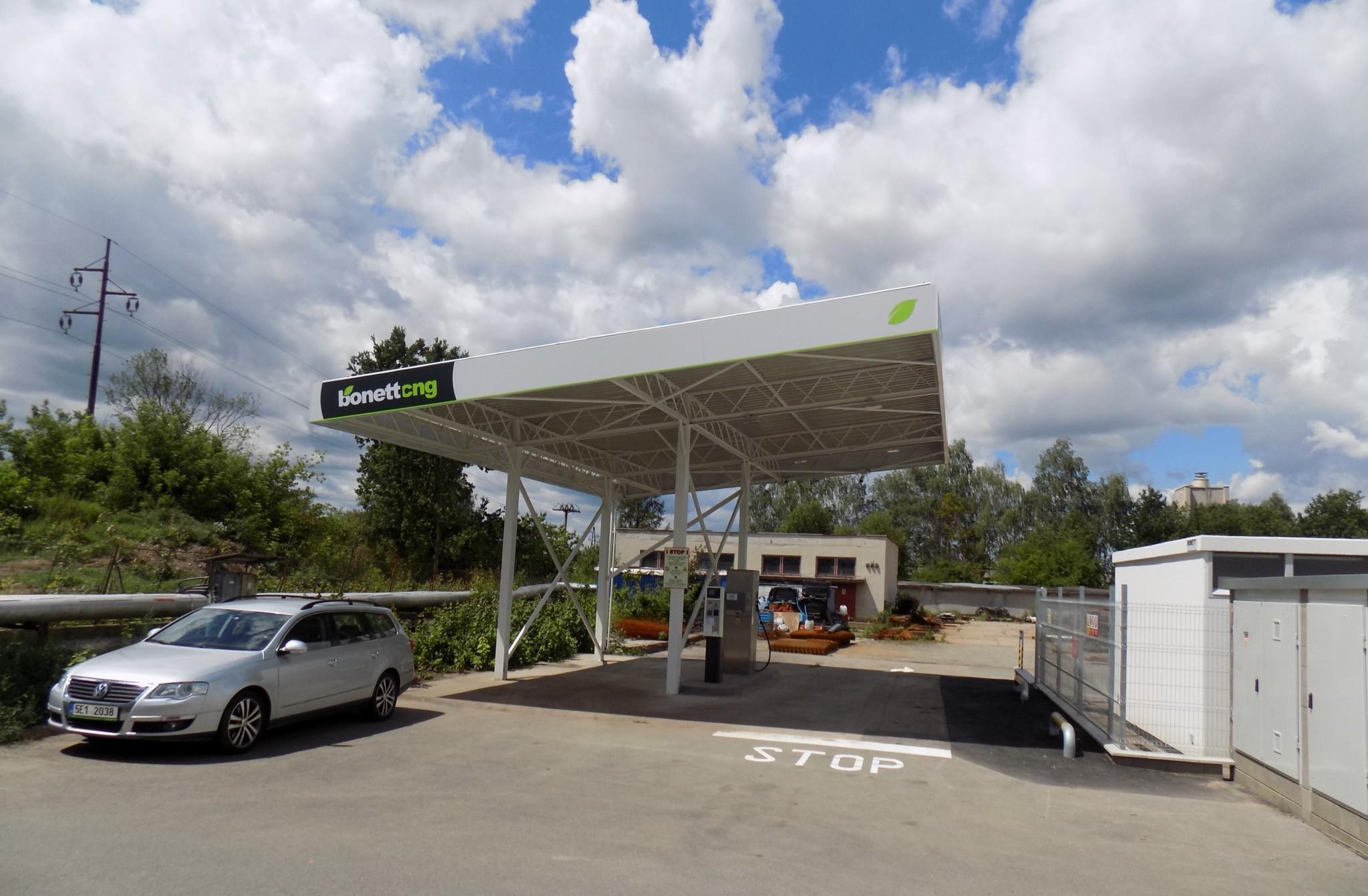 Plnící stanice CNG Bonett Pardubice