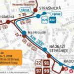 Krátkodobé přerušení provozu tramvají na trase Radošovická – Nádraží Hostivař: