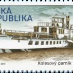 Kolesový parník Vltava má vlastní známku