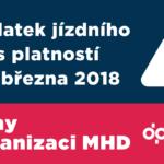 Změny v organizaci MHD od 4. března 2018