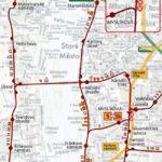 Krátkodobé přerušení tramvajového provozu v oblasti křižovatky ulic Spálená a Lazarská v centru Prahy