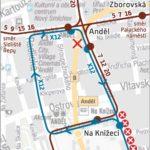 Na Knížecí – Sídliště Barrandov: krátkodobé přerušení provozu tramvají