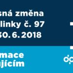 Dočasná změna trasy linky č. 97
