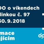 Z Hranečníku do ZOO a zpět víkendovými spoji linky č. 97