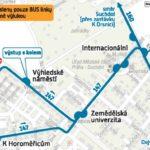 Dočasná změna trasy a zastávek pro linky číslo 147, 160 a 359
