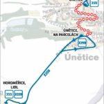 Dočasná změna trasy a zastávek pro linky číslo 355 a 359