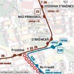 Průběžná – Nádraží Hostivař: krátkodobé přerušení provozu tramvají