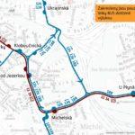 Dočasná změna trasy a zastávek pro linky číslo 124, 139, 188 a 196